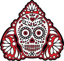 mexikansk sockerskalle, vintage design vektor