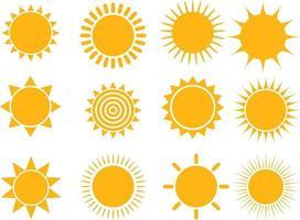 Sonnensymbol eingestellt vektor