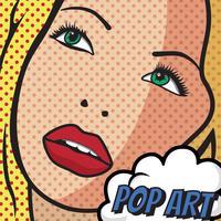 Kvinna Pop Art Vector Design
