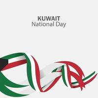 Feier des Kuwait Nationalfeiertags vektor