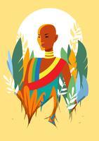 Frauen Farbe Hintergrund vektor