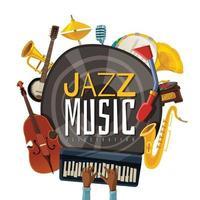 Jazzmusikillustration Vektorillustration vektor