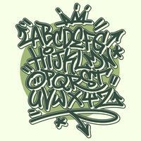 Graffiti-Alphabet vektor