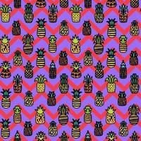 nahtloses Muster des ganzen Ananasvektors vektor