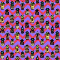 hela ananas vektor sömlösa mönster