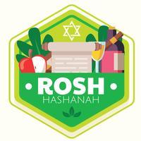 Rosh Hashanah-Abzeichen-Vektor-Design vektor