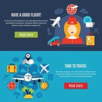 flygplats online-service platta banners vektor