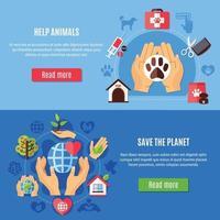 Tierarzt Pflege Banner Sammlung vektor
