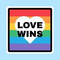 HBT-tecken, stolthetsflagga med hjärta på bakgrunden vektor