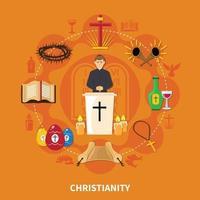 flache Zusammensetzung der Religionen vektor