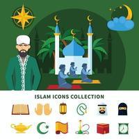 Religionen Icon Set vektor