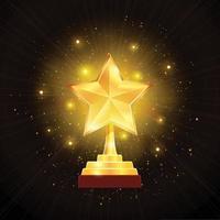 Auszeichnung Goldstern Hintergrund Illustration Vektor-Illustration vektor