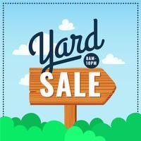 Yard Sale Poster Zeichen vektor