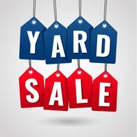 Yard Sale hängenden Tag Label vektor