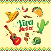 über Mexiko vektor