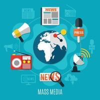 Designkonzept für Massenmedien vektor