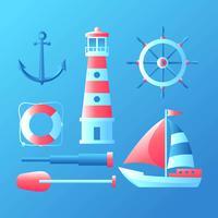 Nautical element Set Vector