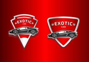 Exotische Autoabzeichen vektor