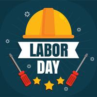 Flat Labour Day Vector