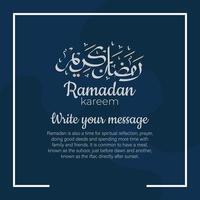 Ramadan Kareem arabische Kalligraphie mit traditionellen islamischen Ornamenten. Vektorillustration vektor