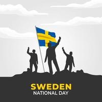 vektorillustration av sveriges självständighetsdag. sveriges nationaldag. vektor illustration