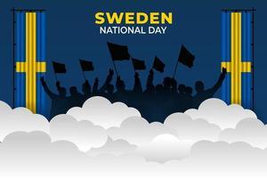 vektorillustration av Sveriges nationella dag vektor