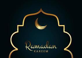 elegant bakgrund för ramadan kareem vektor