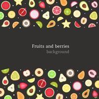 frukt och bär bakgrund. vektor illustration