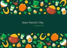 Hintergrund des Tages des Heiligen Patrick. Vektorillustration vektor