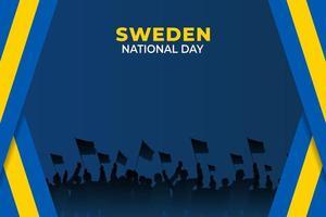 sveriges nationaldag. firades årligen den 6 juni i sverige. glad nationell helgdag av frihet. svensk flagga. vektor