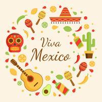 Viva Mexiko Vektor Hintergrund