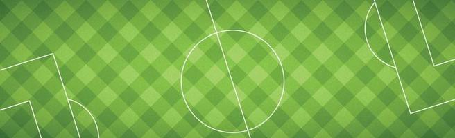 realistische Fußballhintergrundabdeckung mit Markierungen - Vektor