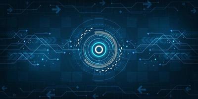 Die digitale Datenübertragung ist schnell und komplex. vektor