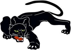 schwarzer Panther perfekt für Designprojekt vektor