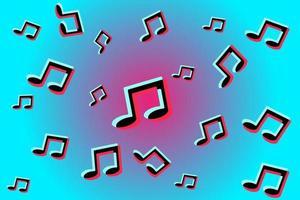 Hintergrund von Musiknoten. abstrakte Abdeckung, Hintergrund, Muster, Tapete. Social-Media-Konzept vektor