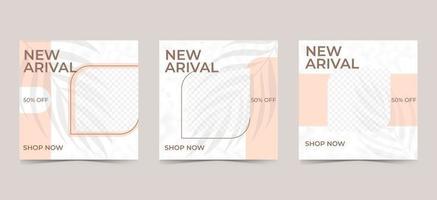 bearbeitbare minimale quadratische Banner-Vorlage. Social-Media-Post- und Web-Internet-Anzeigen mit Fotocollage für Werbezwecke. vektor