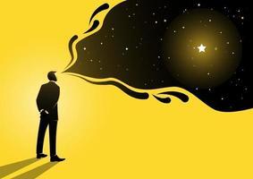 Geschäftsmann und sein Traum vektor