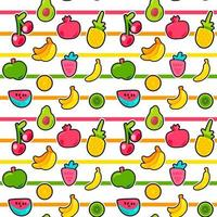 exotiska sommar frukt vektor sömlösa mönster