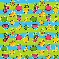 tropisches Obst, Beerenvektor nahtloses Muster vektor