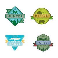Waldtiere Vektor-Logo-Vorlagen gesetzt vektor