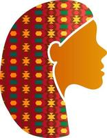 indische Frau Gesicht Silhouette Profil Symbol isoliert vektor