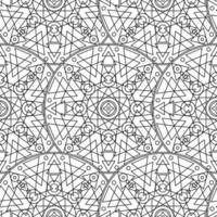 schwarz weiß monochromes Mandala Boho nahtloses Muster vektor
