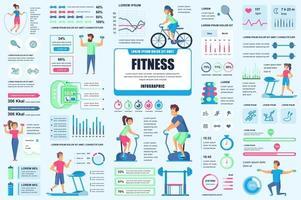 bunt fitness och sport infografiska element vektor