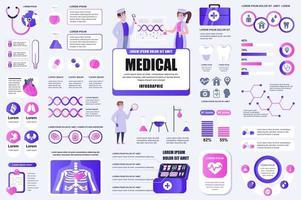Bündelung von Infografik-Elementen für medizinische Dienste vektor