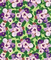 nahtloses Blumenmuster. Blumenblütenhintergrund. Blumen strukturierte Retro-Verzierung mit Blumen. gedeihen geflieste dekorative stilvolle Tapete vektor
