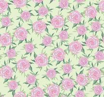 nahtloses Ziermuster mit Blumenmuster. sanfte Blütenpfingstrose gedeihen Textur. abstrakter blühender Gartenblütenhintergrund vektor