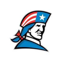 amerikanischer Patriot USA Flagge Hut Maskottchen vektor