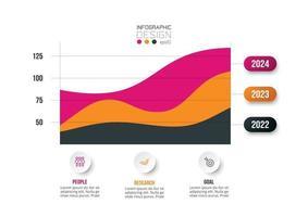 Infografik Geschäftsvorlage mit Grafik- oder Diagrammdesign. vektor