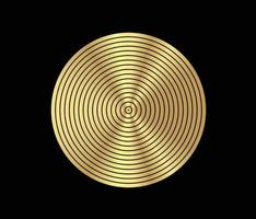 koncentrisk cirkel element. guld lyxig färg ring. abstrakt vektorillustration för ljudvåg, gyllene grafik, modern dekoration för webbplatser, affischer, banners, mall eps10-vektor vektor