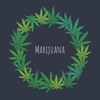 Marihuana-Rahmen in Form eines Kreises vektor